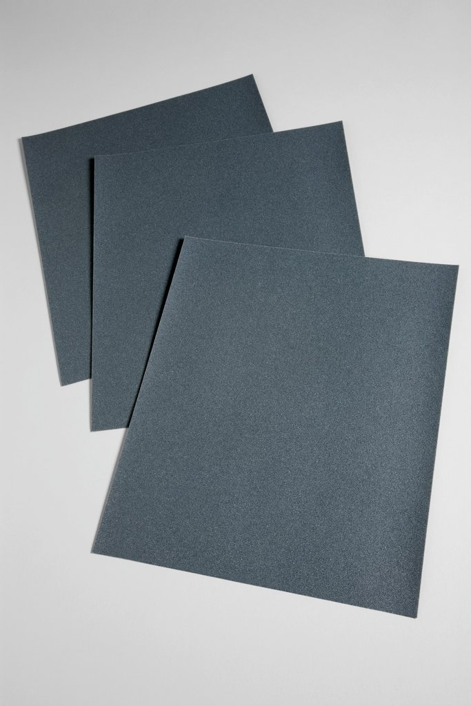3M™ 051144-02016 431Q Coated Sanding Sheet, 11 in L x 9 in W, 120 Grit, Fine Grade, Silicon Carbide Abrasive, Paper Backing