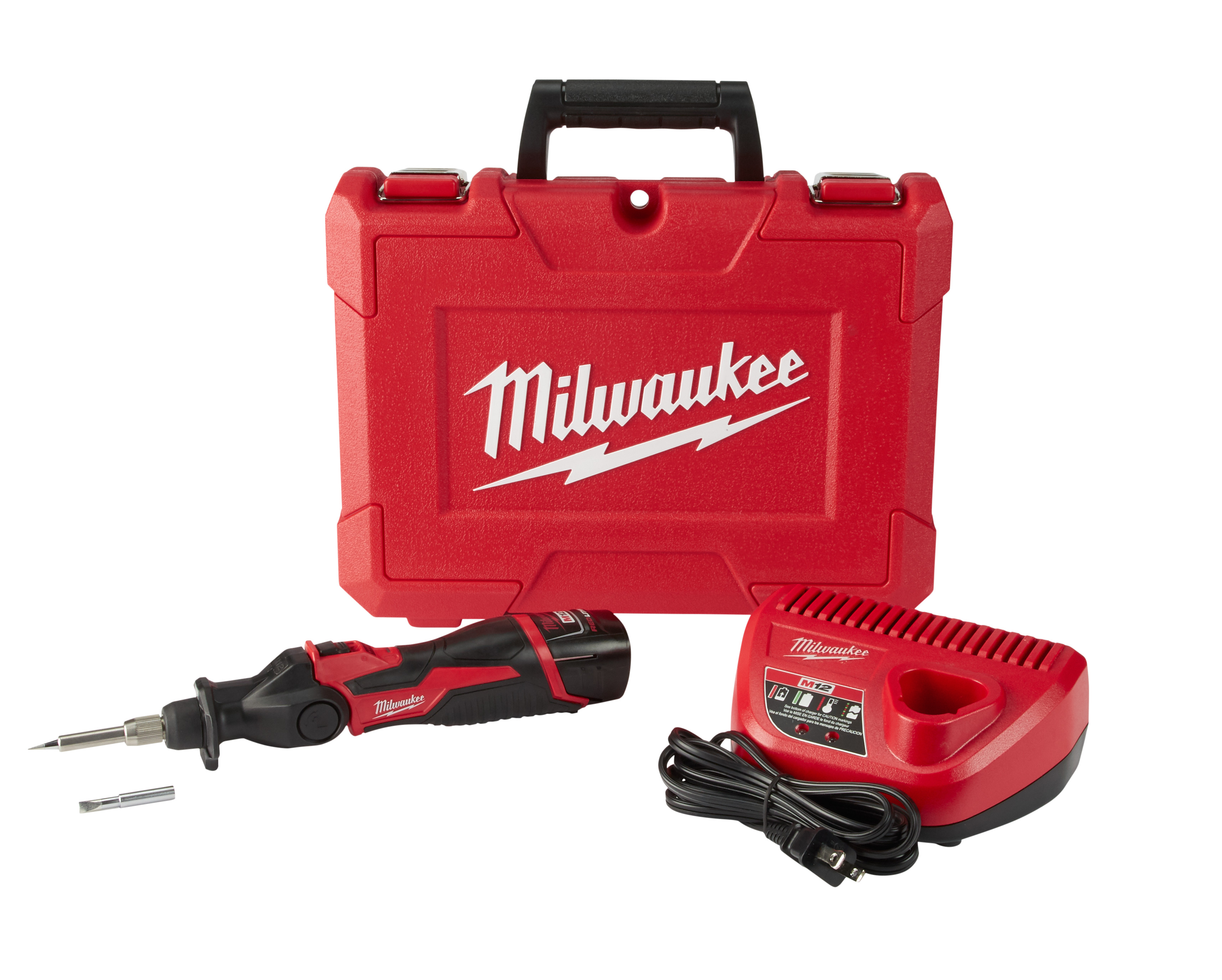 Milwaukee® M12™ 2488-20 Cordless Soldering Iron, 12 VDC, 90 W, 0.02 in Dia Tip, 10-3/4 in L Cord, Pistol Grip Handle