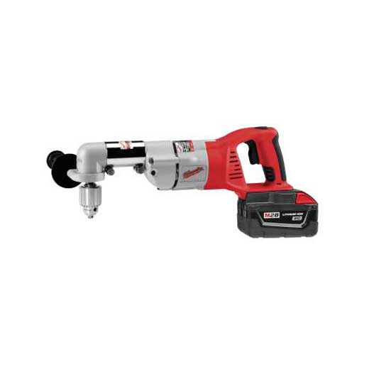 Milwaukee® 0370-20 Magnum™ Double Insulated Heavy Duty Close Quarter Angle Drill, 3/8 in Keyed Chuck, 120 VAC, 0 to 1300 rpm Speed, 11 in OAL, Tool Only