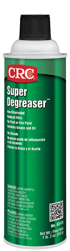 CRC® 03095 Chlorinated Heavy Duty Degreaser, 20 oz Aerosol Can, Liquid, Clear, Moderate