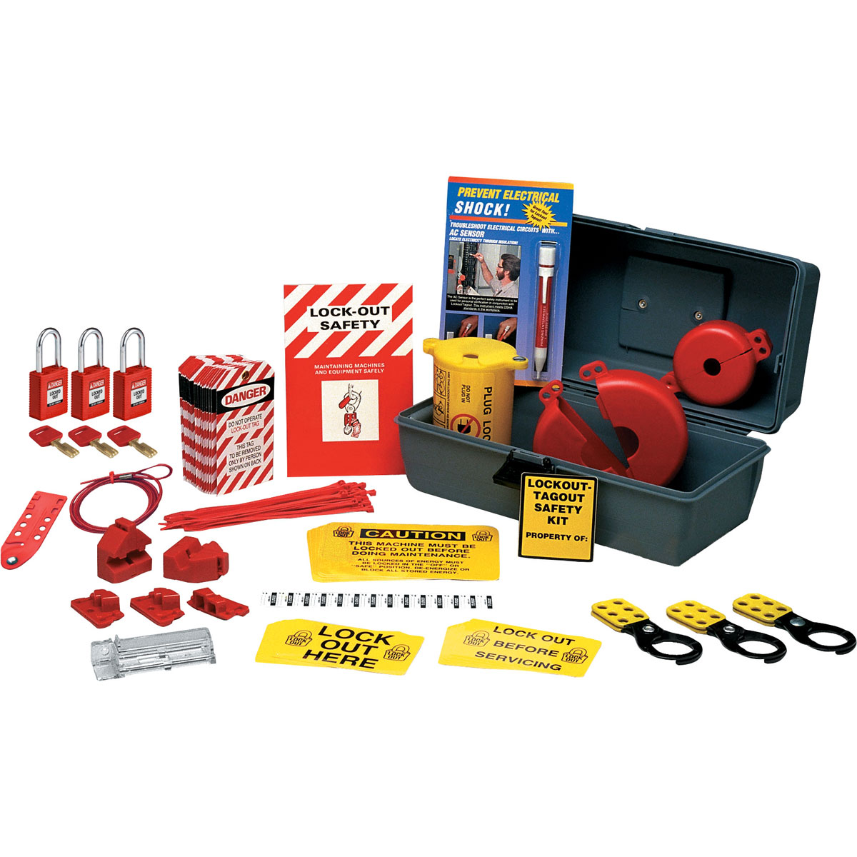 North® by Honeywell LK111FE Portable Electrical Lockout/Tagout Kit, 10 Pieces