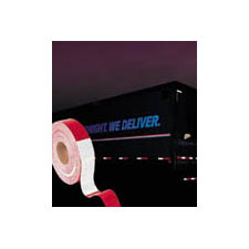 Brady® 76436 Self-Adhesive Vehicle Conspicuity Marking Tape, 50 yd L x 2 in W x 0.022 in THK, DOT-C2 Red/White, B-752 Retroreflective Sheeting