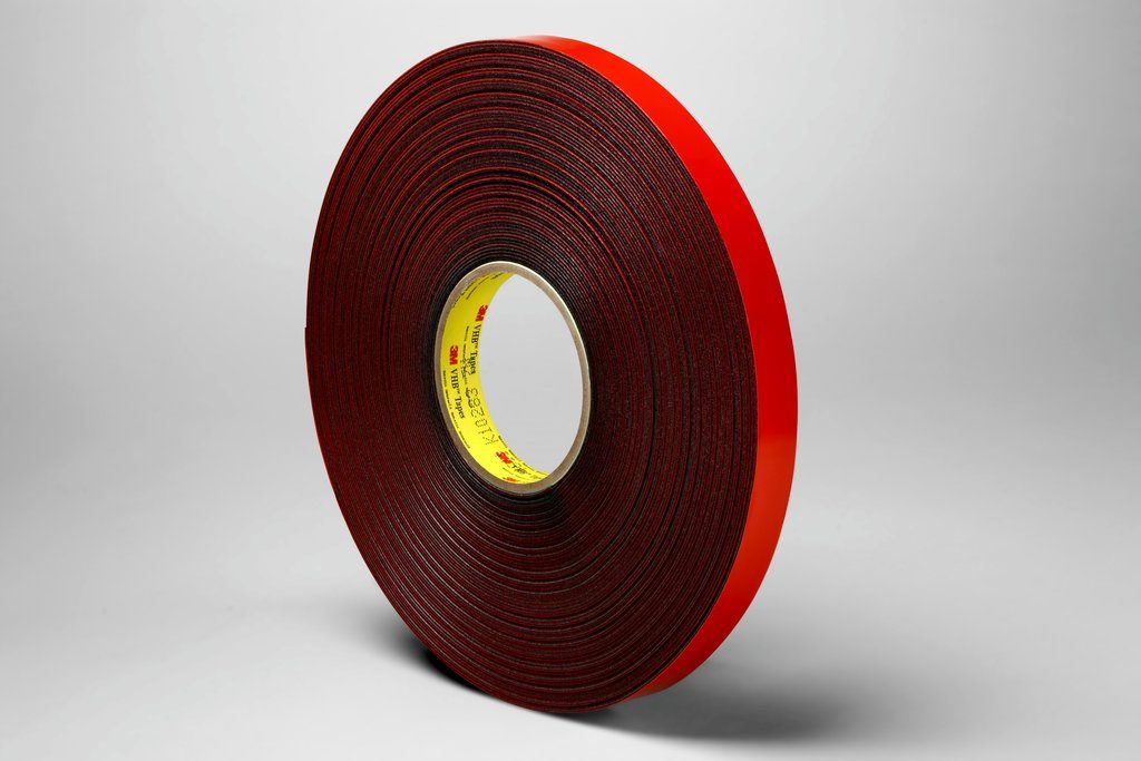 UltraTape 1510CL100-P3D 1510CL-P3D Series Double-Sided Cleanroom Tape with Liner, Permanent Adhesion, 36 yd LG X 1 in WD X 8 mil THK, Clear with Transparent Red Mylar Liner, Polyester Backing, ISO 9001