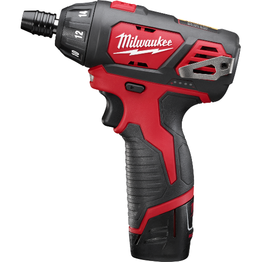 Milwaukee® M4™ 2101-22 Cordless Screwdriver Kit, 1/4 in Chuck, 4 VDC, 44 in-lb Torque, Lithium-Ion Battery