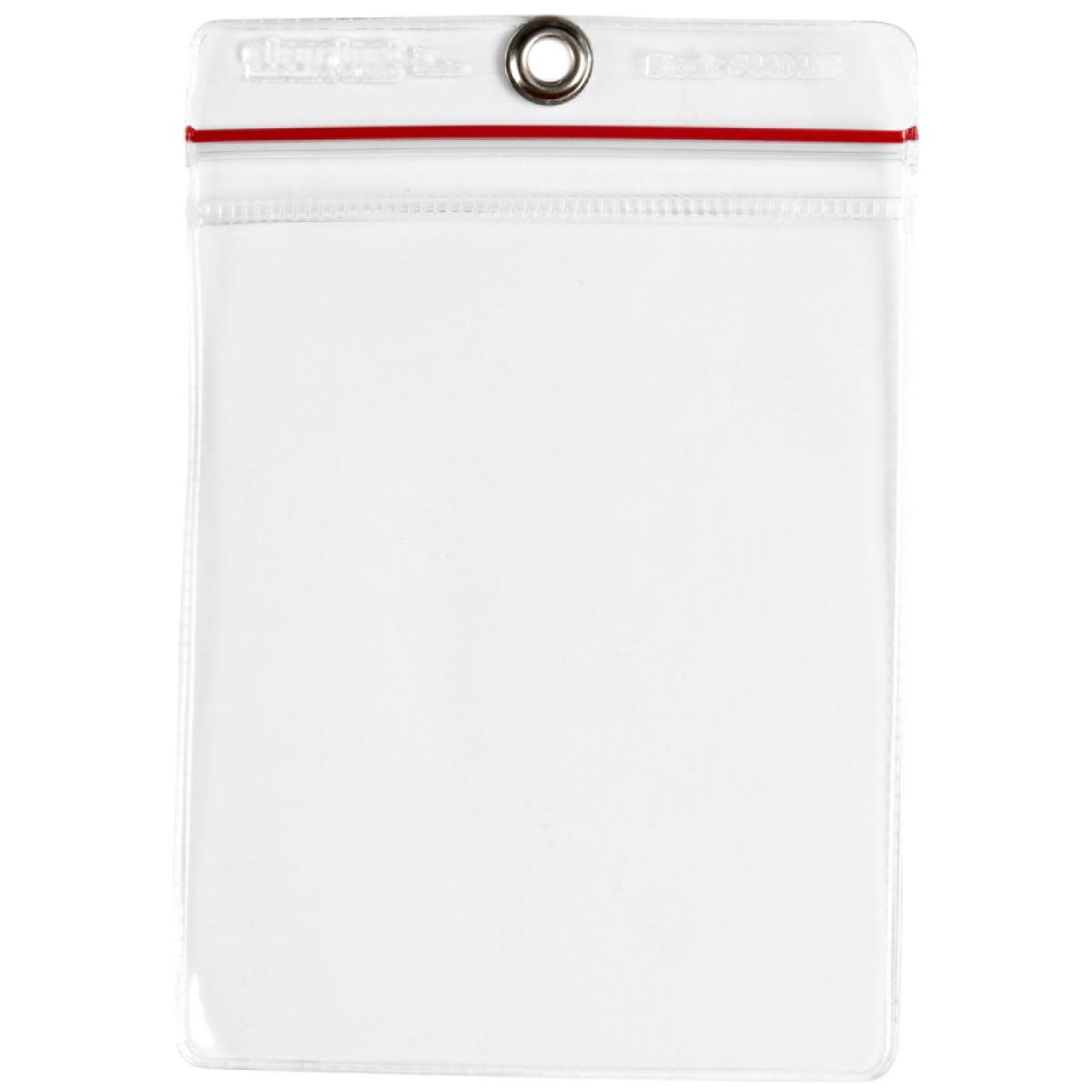 Brady® 81765 Protective Envelope With Grommet, Zip Lock Closure, 6-1/2 in H x 4-1/2 in W, Vinyl, Clear