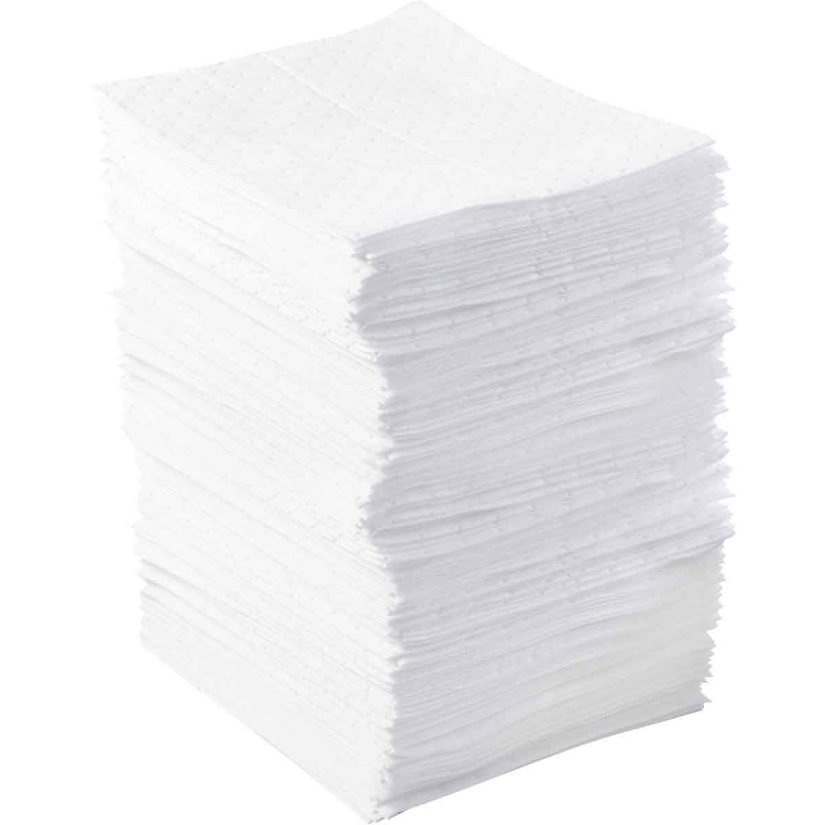 SPC® BASIC® BPO100 Heavyweight Perforated Absorbent Pad, 17 in L x 15 in W x 1 ply THK, 20.5 gal Absorption, Meltblown Polypropylene