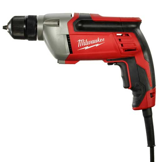 Milwaukee® 0234-6 Grounded Heavy Duty Electric Drill, 1/2 in Keyed Chuck, 120 VAC, 0 to 950 rpm Speed, 10-1/2 in OAL