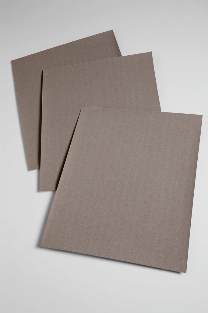 3M™ 051144-02402 211K Utility Sheet, 11 in L x 9 in W, 320 Grit, Extra Fine Grade, Aluminum Oxide Abrasive, Cloth Backing