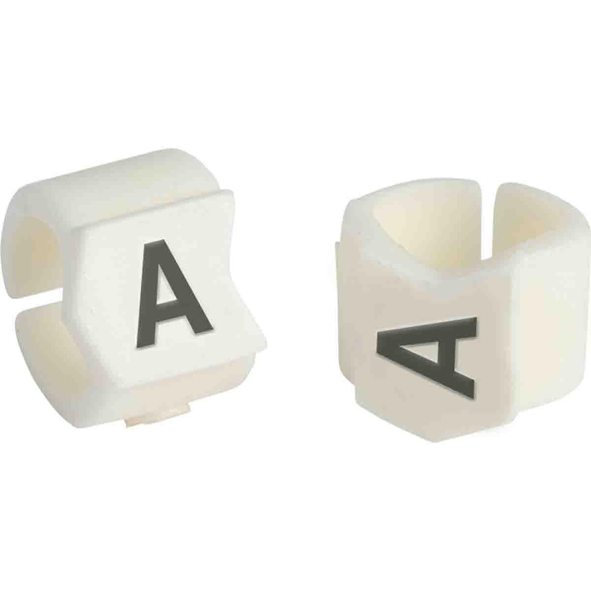 Brady® Clip-Sleeve™ SCN23-1 SCN Pre-Printed Wire Marker, 0.236 to 0.299 in Wire, 1 Legend, Black on White Legend, White Marker, Nylon