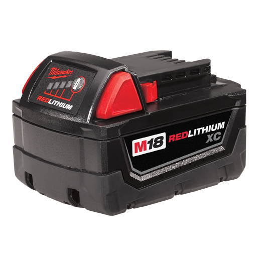 Milwaukee® M18™ REDLITHIUM™ 48-11-1828 High Capacity Rechargeable Cordless Battery Pack, 3 Ah Lithium-Ion Battery, 18 VDC Charge, For Use With Milwaukee® M18™ Cordless Power Tool