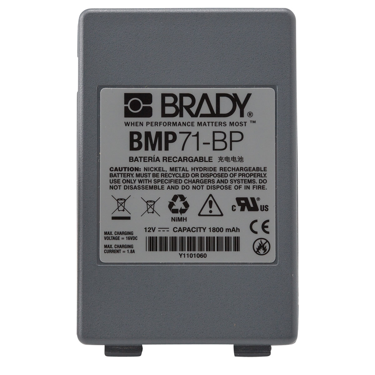 Brady® M-AC-110937 BMP®21 AC Adapter, For Use With BMP®21, IDXPERT™, LABXPERT™ and BMP®21-PLUS Printer