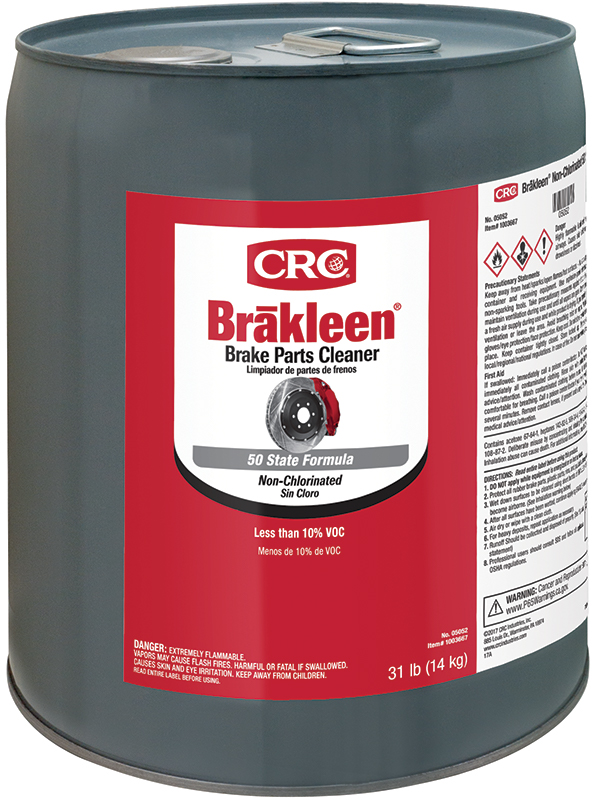 CRC® 05051 Brakleen® Extremely Flammable Non-Chlorinated Brake Parts Cleaner, 1 gal Bottle, Liquid, Clear, Solvent