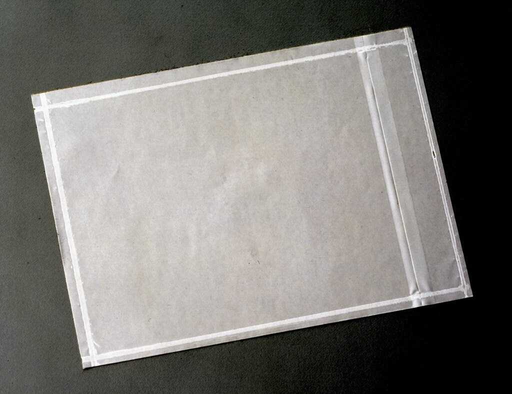 3M™ 021200-73709 PLE-NP1 Non-Printed Packing List Envelope, 5-1/2 in L x 4-1/2 in W, Polyethylene Film Backing, Clear