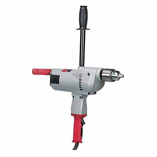 Milwaukee® 1676-6 Hole Hawg® Grounded Heavy Duty Right Angle Drill Kit, 1/2 in Keyed Chuck, 120 VAC, 300 to 1200 rpm Speed, 6-1/2 in OAL