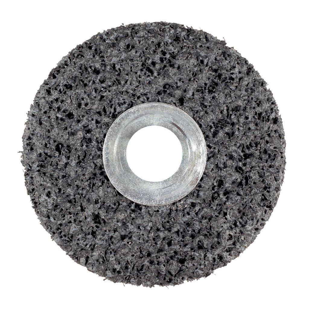 3M™ 048011-01003 CS-UW Clean and Strip Unitized Wheel, 1 in Dia Wheel, 3/16 in Center Hole, 1 in W Face, Extra Coarse Grade, Silicon Carbide Abrasive