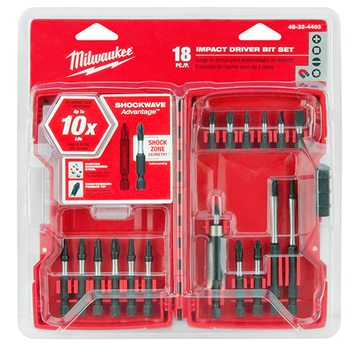 Milwaukee® 48-32-4402 SHOCKWAVE™ Drill and Drive Bit Kit, 1/4 in, 1/4 in, Steel