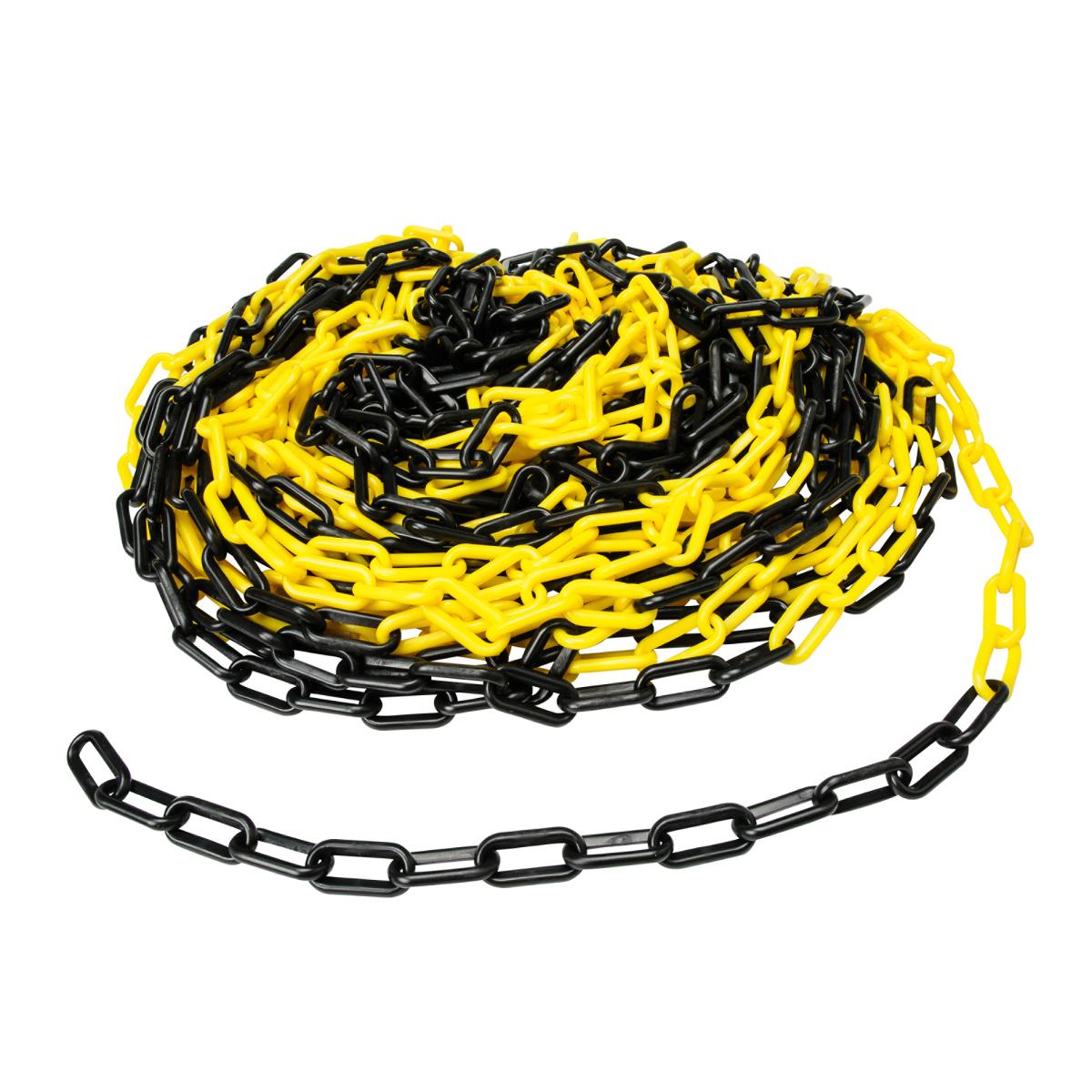 Brady® BradyLink® 37861 Warning Chain, 3 in, 100 ft L, White, B-900 Polyethylene