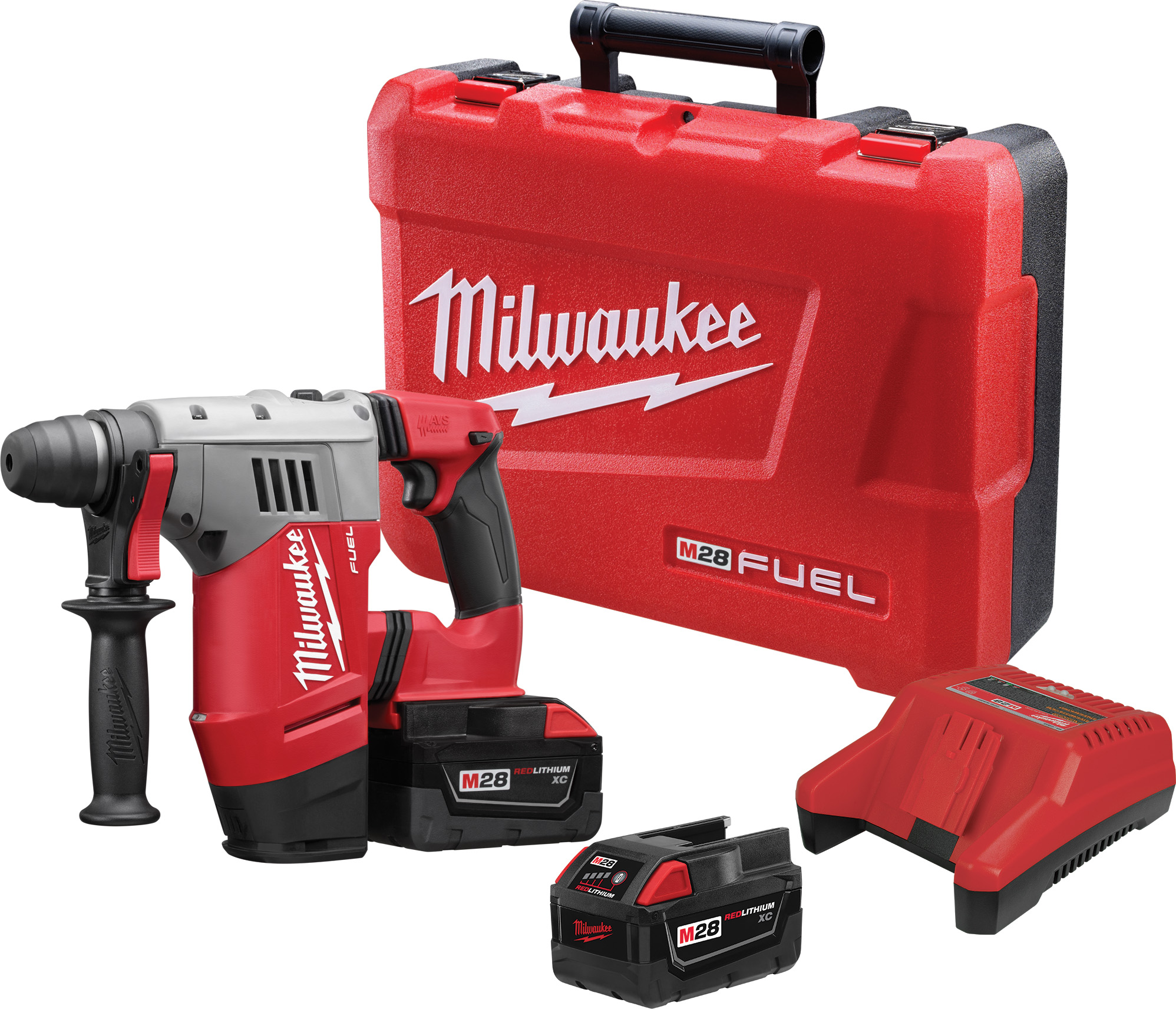 Milwaukee® 0726-22 M28™ Cordless Hammer Drill Kit, 1/2 in Metal Single Sleeve Ratcheting Lock Chuck, 28 VDC, 0 to 450/0 to 1800 rpm No-Load