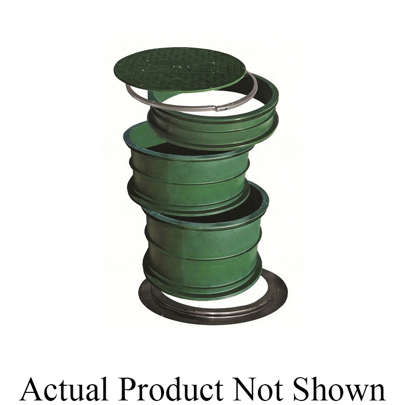 INFILTRATOR® TWLID-2400 Lid, For Use With 24 in Septic Tank Opening or TW Risers, Polyethylene, Green