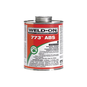 Weld-On® 773™ 10241 Low VOC Medium Bodied Fast Setting Cement With Screw-on Cap, 1 gal Metal Can, Syrupy Liquid, Black, 0.89 at 23 deg C