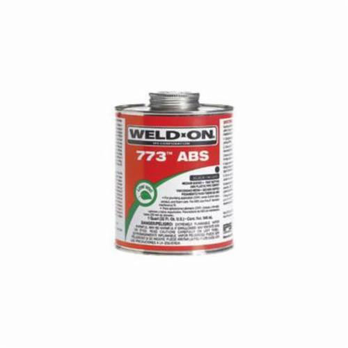 Weld-On® 773™ 10244 ABS Plumbing Cement With Applicator Cap, 1 pt Can, Medium Syrupy Liquid, Black, 0.890