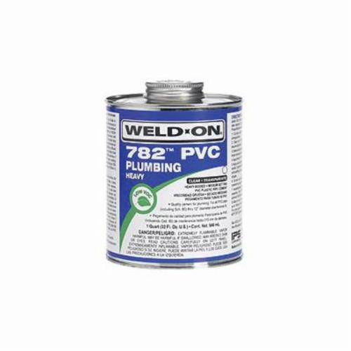 Weld-On® 782™ 14015 Heavy Duty Low VOC Medium Setting Solvent Cement With Screw-On Cap, 1 gal Container, Clear