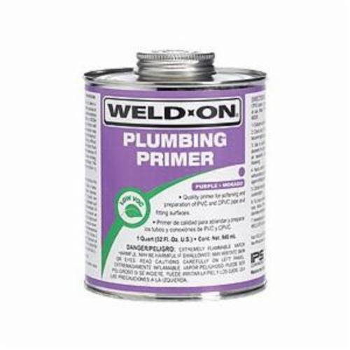 Weld-On® 14027 Plumbing Primer With Applicator Cap, Purple, 0.5 pt Can