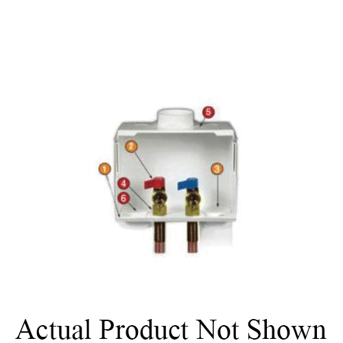 Water-Tite DU-ALL™ 85630 Dual Drain Washing Machine Outlet Box With Valve
