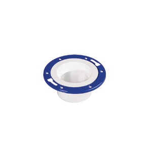 Water-Tite 86170 Flush-Tite Closet Flange With Knockout and Metal Adjustable Ring, 7.008 in OD, 3 x 4 in Pipe, Domestic