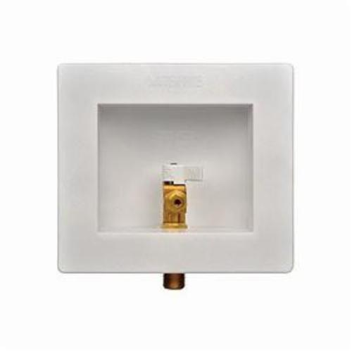 IPS® 87967 Water-Tite Outlet Box With Quart Turn Valve, For Use With Ice Maker, 1/2 in C, Plastic, Domestic