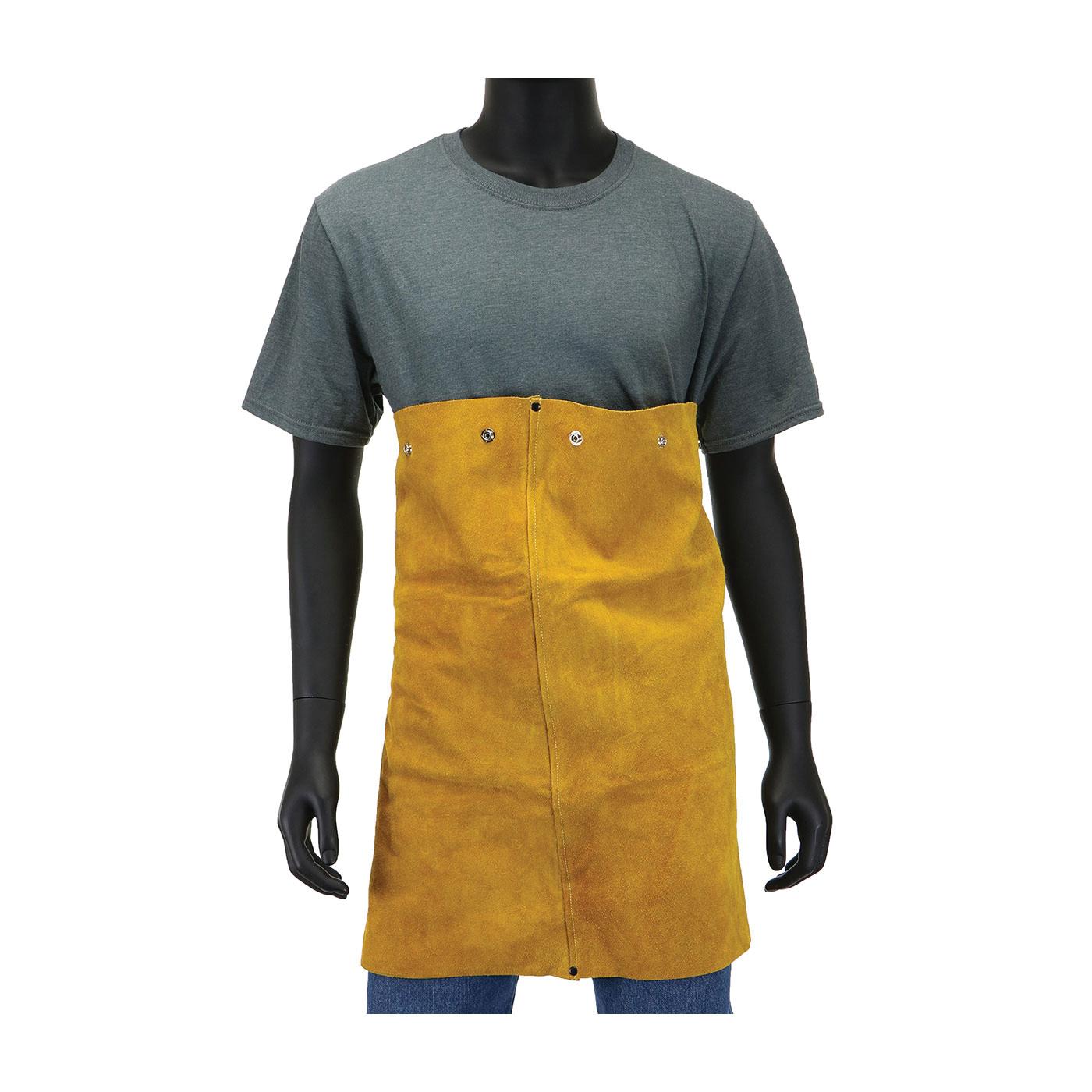 Ironcat® 7000/XL Cape Sleeve, XL, Golden Yellow, Leather, Anodized Snap Closure