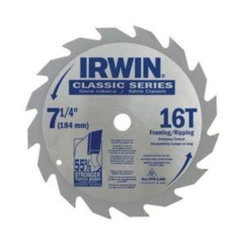 Irwin® Classic® 11220 Cordless Circular Saw Blade, 6-1/2 in Dia, 5/8 in Arbor, 60 Teeth