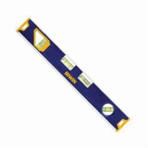 Irwin® 1794157 150T Magnetic Standard Toolbox Level, 12 in L, 4 Vials, (2) Level, (2) Plumb Vial Position, 0.029 deg, Aluminum