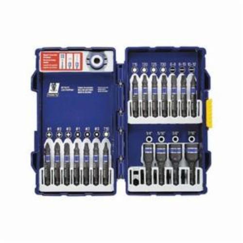 Irwin® 1881322 Impact Drill Set, Imperial, 1/8 in Min Drill Bit, 3/8 in Max Drill Bit, 135 deg Drill Point Angle, 10 Pieces, HSS, Black Oxide