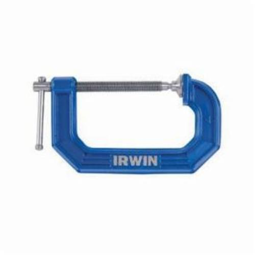 Irwin® Quick-Grip® Record® 223112 Traditional 100 Clutch Lock F-Clamp Medium Duty Bar Clamp, 12 in Clamping, 3-1/8 in D Throat, Ergonomic/Soft, ProTouch™ Grip Handle, Steel Bar