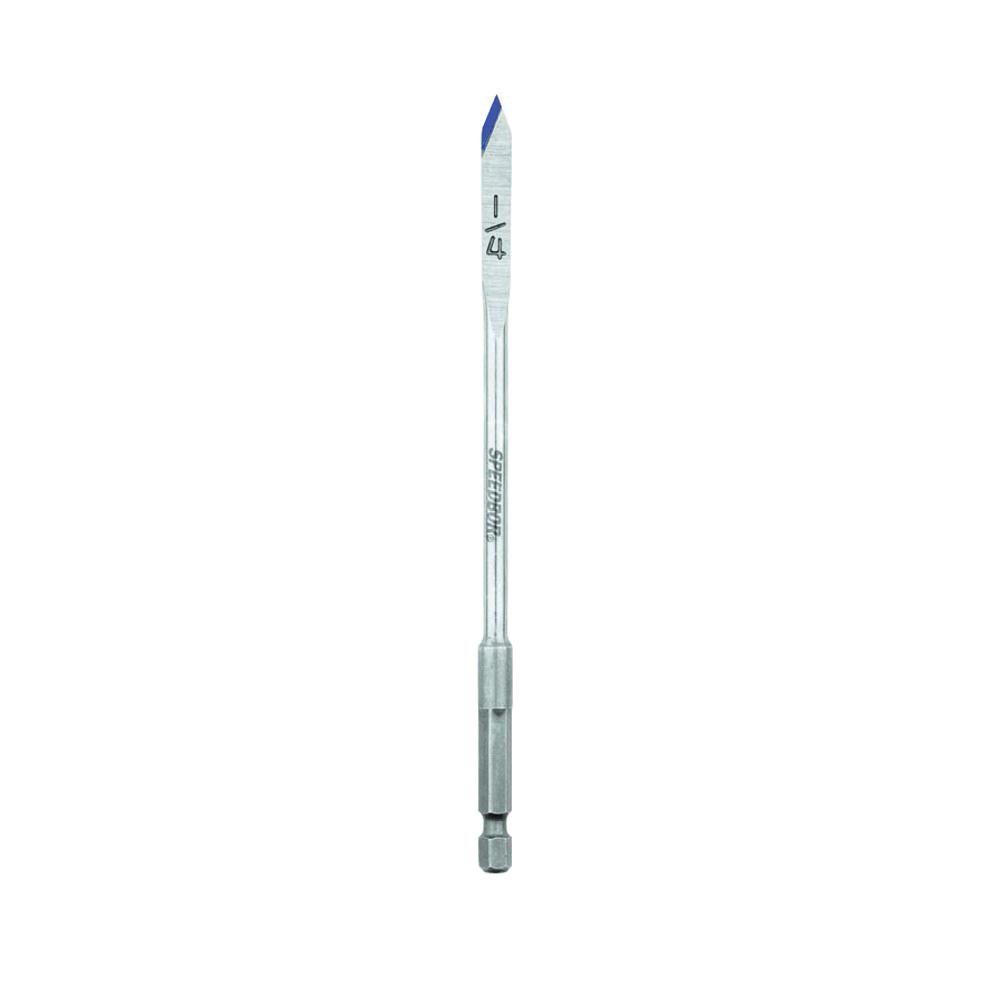 Irwin® Speedbor® 88714 2000 Extra Long Length Spade Bit, 7/8 in Dia, 16 in OAL, 15 in L Flute, 1/4 in Shank