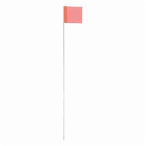 Irwin® Strait-Line® 64100 Stake Flag, 2-1/2 in H x 3-1/2 in W, 21 in OAL, Glo Orange, Vinyl