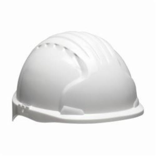 JSP® 280-EV6151-50 Evolution® 6151 Deluxe Non-Vented Standard Brim Hard Hat, SZ 6-5/8 Fits Mini Hat, SZ 8 Fits Max Hat, HDPE, 6-Point Polyester Strap Suspension, ANSI Electrical Class Rating: Class E, ANSI Impact Rating: Type 1, Wheel Ratchet Adjustment