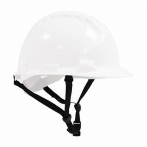 JSP® 280-EV6161-LY Evolution® 6161 Deluxe Full Brim Non-Vented Hard Hat, SZ 6-5/8 Fits Mini Hat, SZ 8 Fits Max Hat, HDPE, 6-Point Suspension, ANSI Electrical Class Rating: Class E, ANSI Impact Rating: Type 1, Wheel Ratchet Adjustment