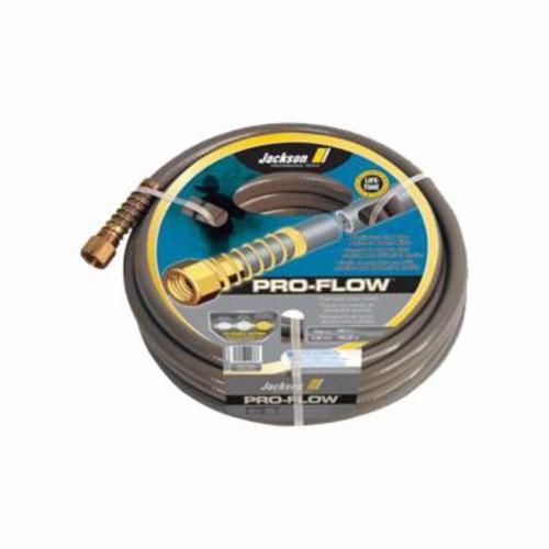Jackson® 4003900 Pro-flow Heavy Duty Professional Hose, 50 ft L, 450 psi, Brass/PVC