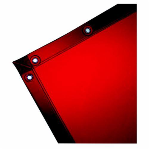 Steiner® ArcView™ 348-C Flame Retardant Heavy Duty Welding Curtain, Custom, 40 mil THK, Tinted Transparent Vinyl, Orange