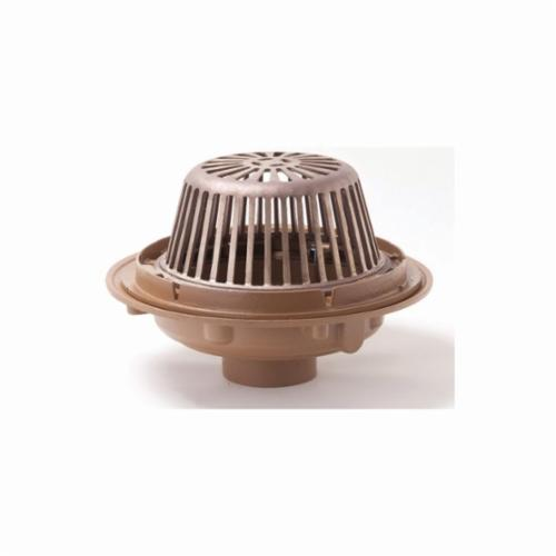 Smith® 1010Y03 Bottom Roof Drain, 3 in Outlet, No Hub Connection, Cast Iron Drain