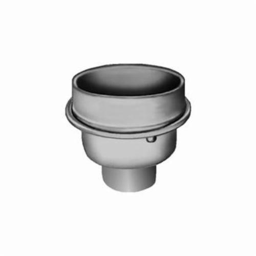 Smith® 3980Y04 Indirect Waste Drain, 4 in Outlet, No-Hub Connection, 12-1/2 in, Cast Iron Drain