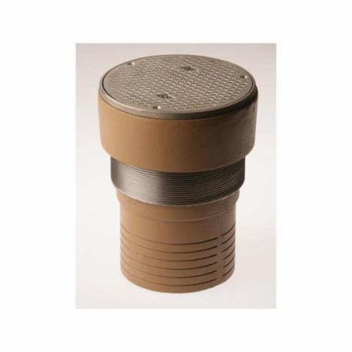 Smith® 4024S04-NS Finished Floor Cleanout With Round Top, 5-3/4 in Cleanout, 4 in Outlet, Duco Cast Iron