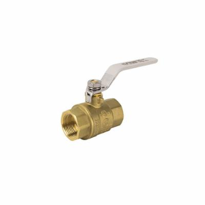 Jomar Valve® 150-104G 2-Piece Ball Valve With Ball Valve, 3/4 in Nominal, FNPT End Style, Brass Body, Full Port, PTFE/FKM Softgoods
