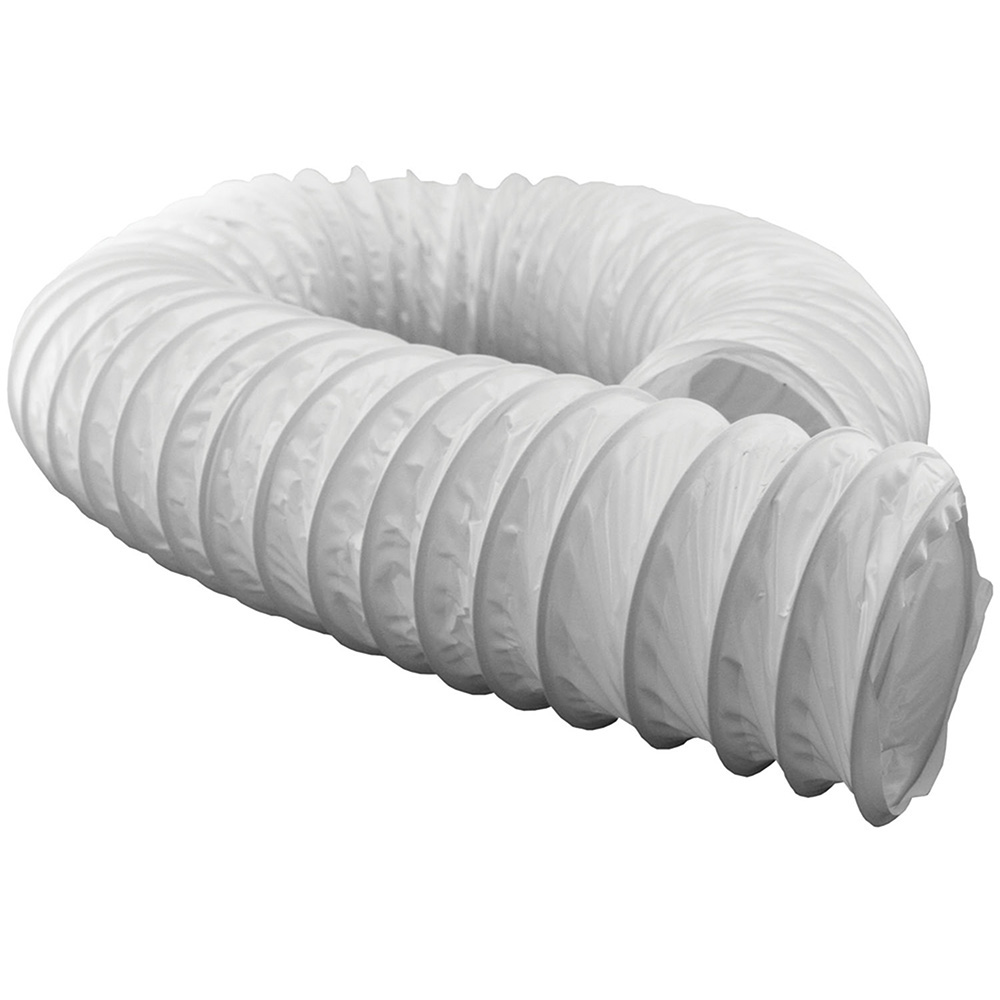 Jones Stephens™ D04062 Vent Duct Hose, 50 ft L, For Use With D04035 Bathroom Fan Vent Kit, Vinyl, Domestic
