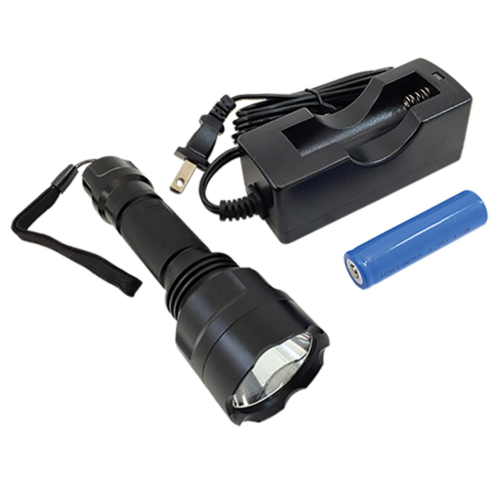Jones Stephens™ F20055 LED Flashlight With Charger, 5 W, LED Bulb, Aluminum Housing, 160 Lumens Lumens