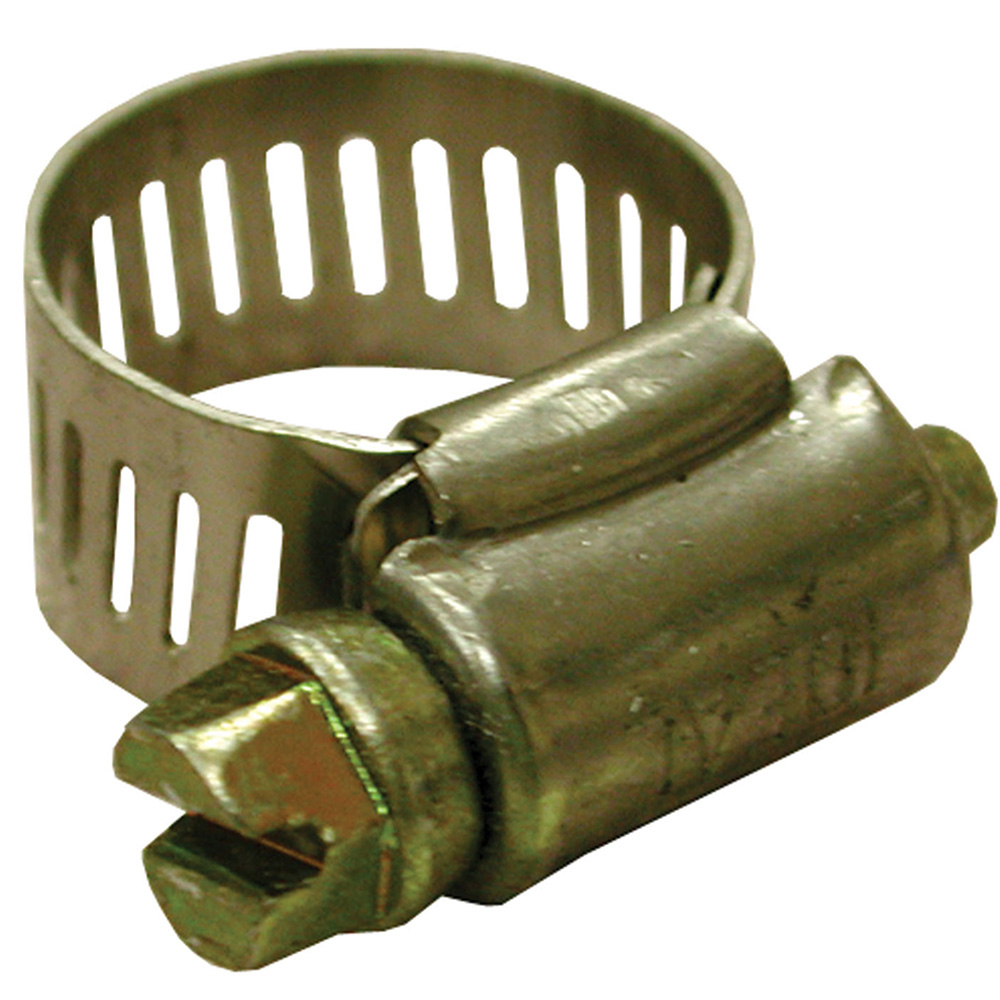 Jones Stephens™ G10020 Full size Gear Clamp, 3/4 to 1-3/4 in Clamp, #20 Trade, Stainless Steel Band, Domestic