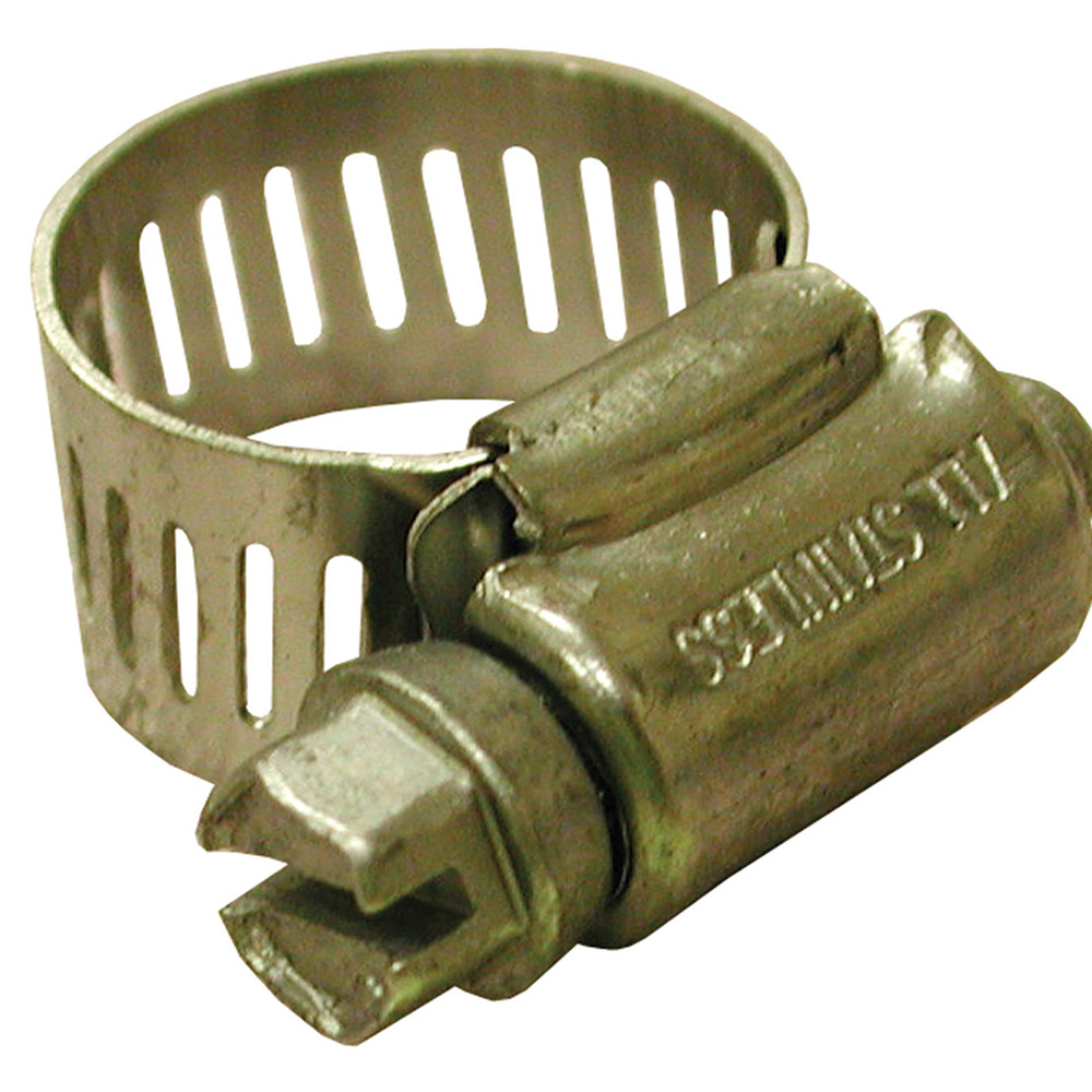 Jones Stephens™ G11008 Full size Gear Clamp, 7/16 to 1 in Clamp, #8 Trade, Stainless Steel Band, Stainless Steel Bolt, Domestic
