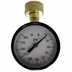 Jones Stephens™ J66300 Water Test Gauge, 300 psi, 3/4 in Female Hose Connection, 2-1/2 in Dial
